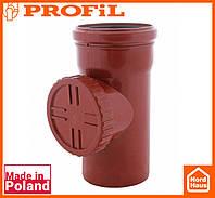 Водосточная пластиковая система PROFIL 130/100 (ПРОФИЛ ВОДОСТОК). Ревизия c решеткой, кирпичный