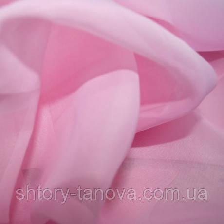 Тюль вуаль однотон. розовый