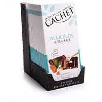 Бельгийский шоколад Cachet Almonds&Sea Salt 100гр (Бельгия)