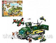 Конструктор Brick Військова серія Атака на броньований автомобіль: 446 деталей, 4 фігурок, фото 1