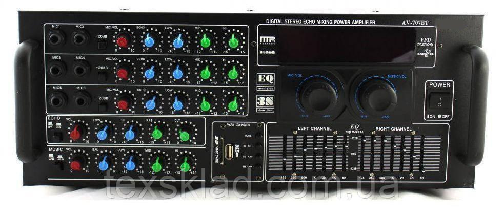Усилитель мощности AMP 2009/707 BT на 800Ват
