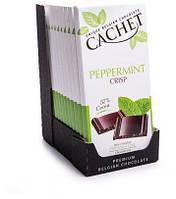 Бельгійський шоколад Cachet 100гр (Бельгія) чорний шоколад з м'ятою