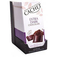 Бельгійський шоколад Cachet 100гр (Бельгія) екстрачорний шоколад 70% какао