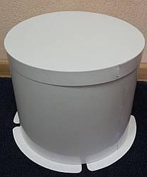 Коробка для тортів біла 250х195 мм