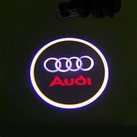 Дверной логотип LED LOGO 100 AUDI подсветка дверей (2 логотипа)