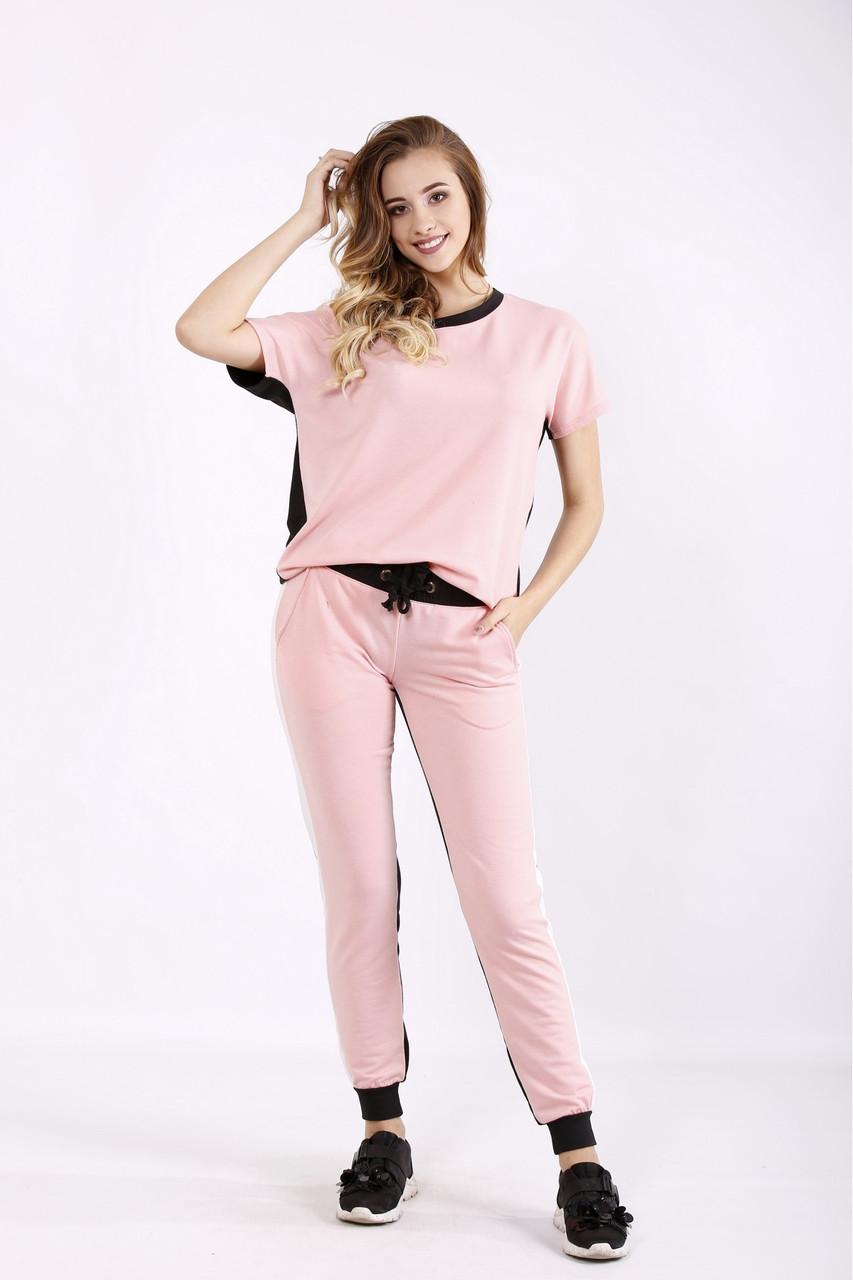 01236-1   Розово-черный спортивный костюм