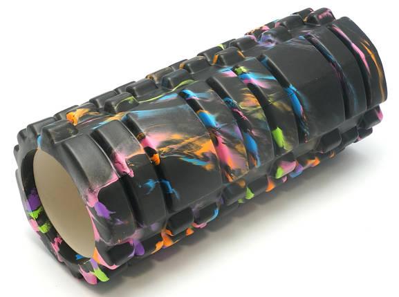 Массажный валик (MS 0857-1) Черный с разводами 33х14 см., фото 2
