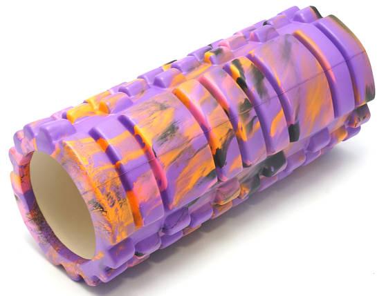 Массажный валик (MS 0857-1) Фиолетовый с разводами 33х14см., фото 2