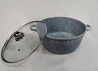 Кастрюля-казан с крышкой гранитным антипригарным покрытием Benson 3.2л