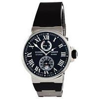 Часы мужские черные Ulysse Nardin Maxi Marine AAA, реплика высочайшего качества