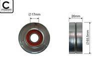 Ролик натяжителя ремня генератора на Renault Trafic (Трафик) Opel Vivaro с 2001 года 1.9dCi (-AC) Magneti