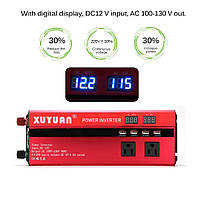 Инвертор (преобразователь) напряжения 4000 W/5000 W DC 12V to AC 220V с цифровым дисплеем, фото 1