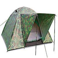 Палатка универсальная трехместная с тентом и тамбуром SY-034