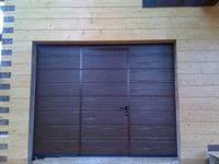 """Ворота гаражные с """"калиткой"""" Алютех, (Alutech) 45 мм."""