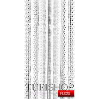 Наклейки №FL020 KODI Nail Art Stickers серебро