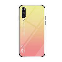 Накладка для Xiaomi Mi 9 SE TPU+Glass Gradient HELLO Рожевий (00000029966_3)