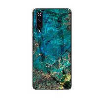 Накладка для Xiaomi Mi 9 SE TPU+Glass Luxury Marble Морська волна (00000030146_3)