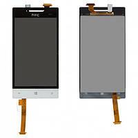 Дисплей + touchscreen (сенсор) для HTC A620e Windows Phone 8S, белый, оригинал
