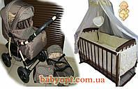 Акция! Коляска, кроватка, матрас кокос, набор постельного. , фото 1