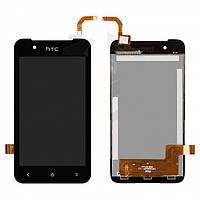 Дисплейный модуль (дисплей + сенсор) для HTC Desire 210 Dual Sim, черный, оригинал