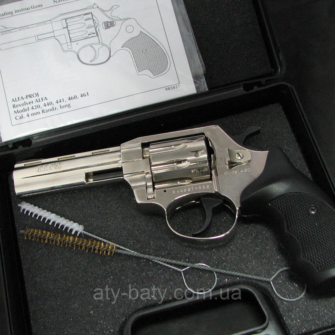 Револьвер флобера ALFA 440 никель/пластик Б/У