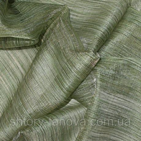 Органза соломка, зеленый