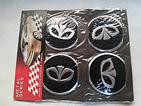 Наклейки на заглушки литых дисков (колпачки) с логотипом daewoo (дэу)