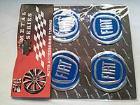 Наклейки на заглушки литых дисков (колпачки) с логотипом fiat (фиат)