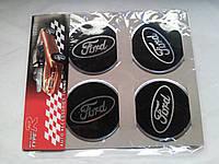 Наклейки на заглушки литых дисков (колпачки) с логотипом ford (форд)