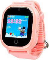 Детские водонепроницаемые телефон-часы с GPS трекером UWatch TD-02 H9 розовые