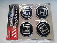 Наклейки на заглушки литых дисков (колпачки) с логотипом honda (хонда)