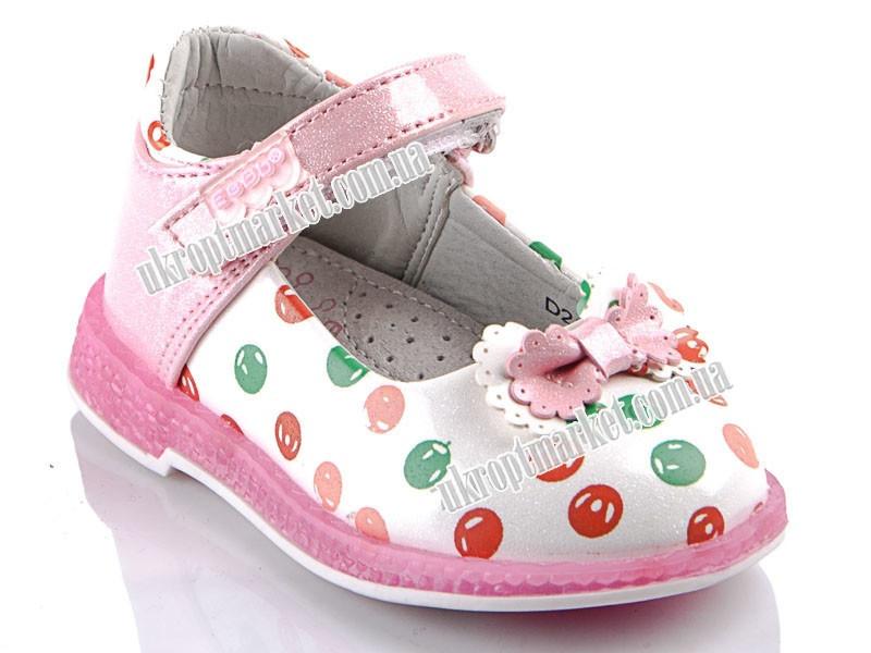 """Туфли детские D21 pink (8 пар р.20-25) """"EeBb"""" LG-1629"""