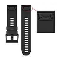 Ремешок для часов Garmin Fenix 5x/QuickFit 26 Watch Bands Black Silicone
