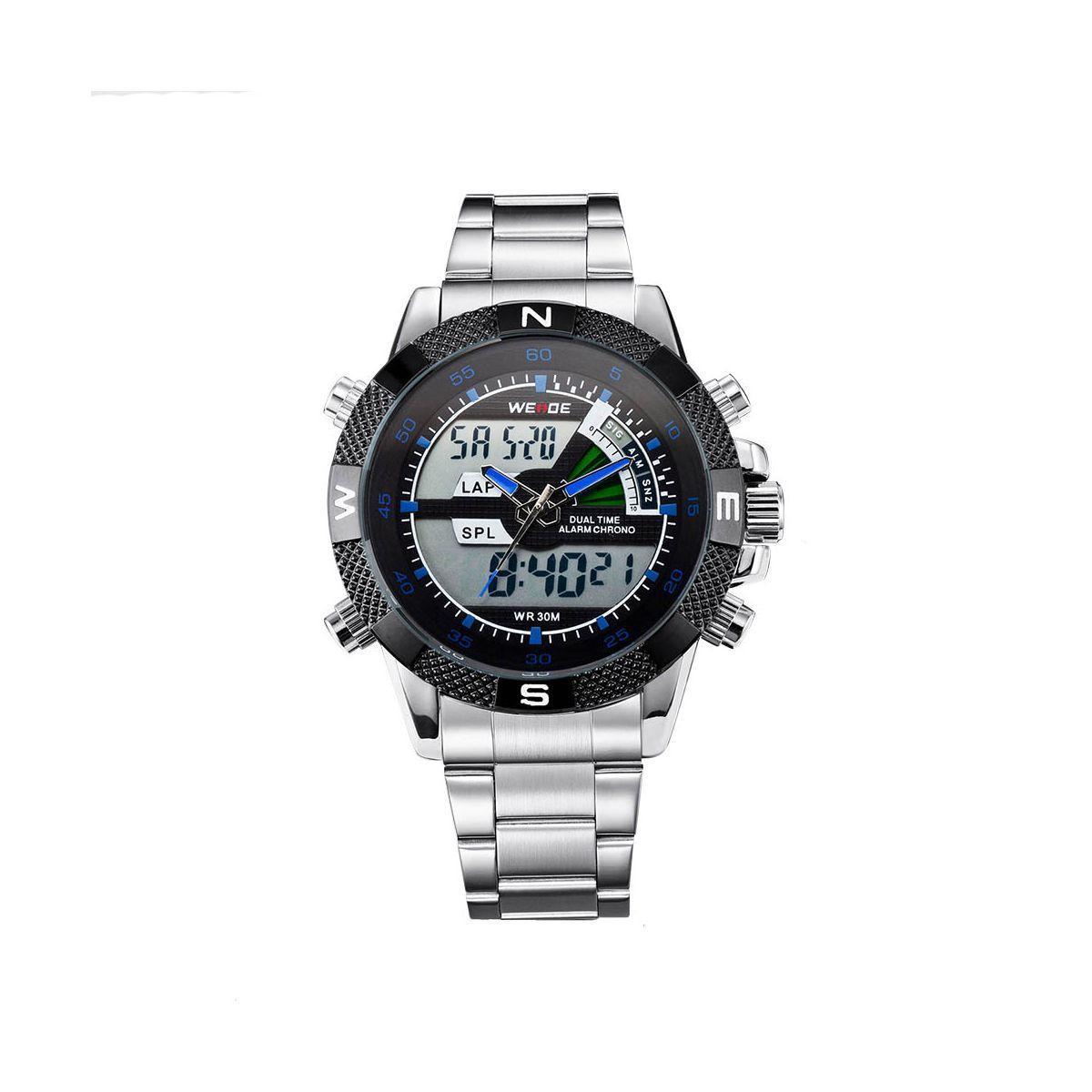 Часы Weide Blue WH1104-6C SS (WH1104-6C)