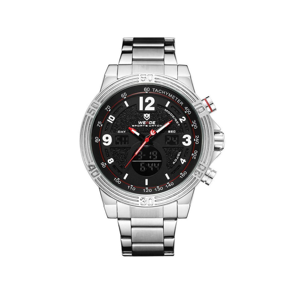 Часы Weide Black WH6908-1C SS (WH6908-1C)