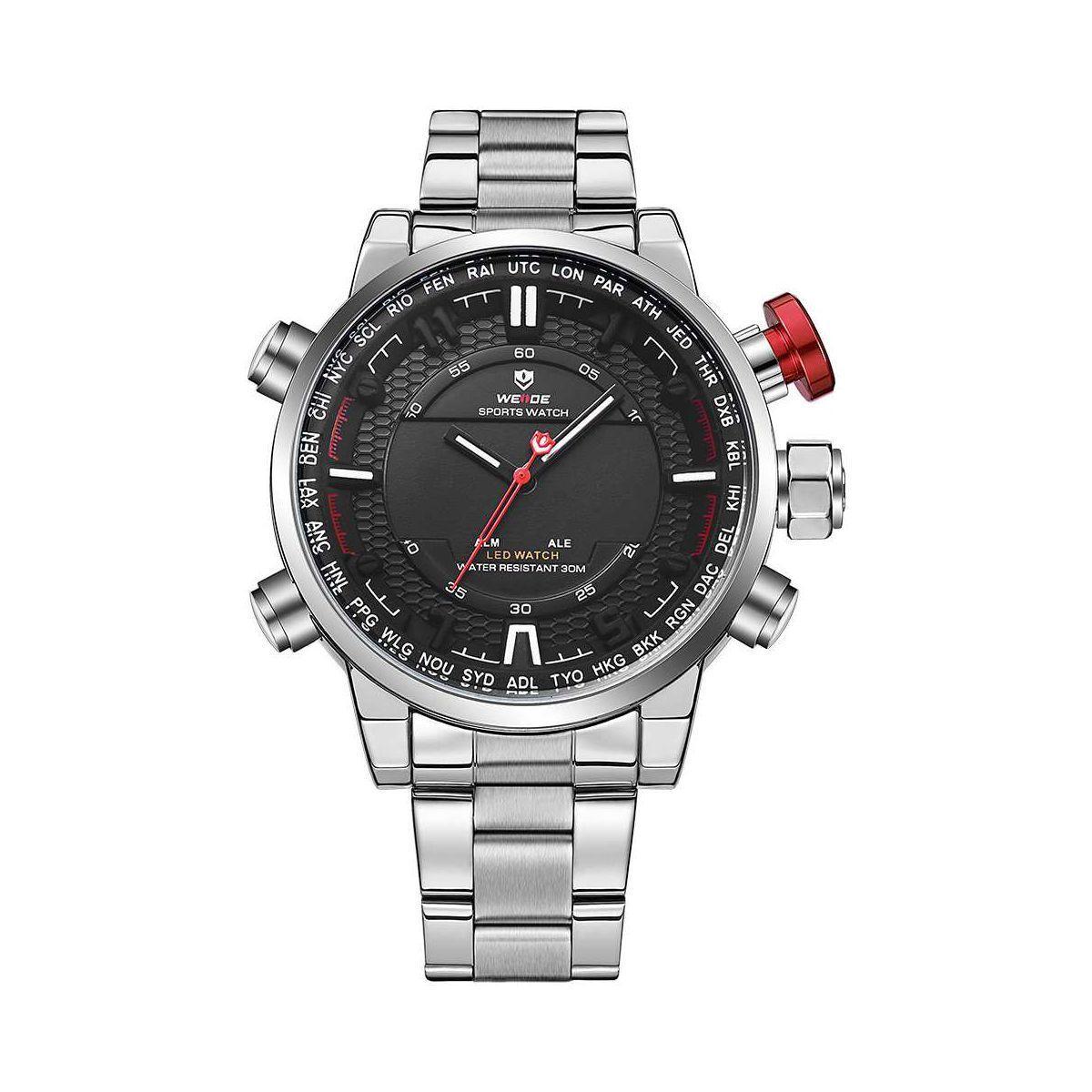 Часы Weide Black WH6402-1C SS (WH6402-1C)