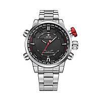 Часы Weide Black WH6402-1C SS (WH6402-1C), фото 1