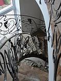 Кованое ограждение радиусной лестницы, фото 3
