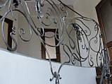 Кованое ограждение радиусной лестницы, фото 4