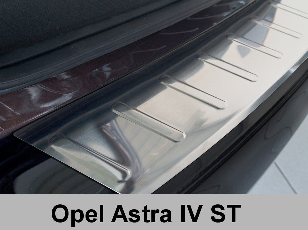 Нержавеющая защитная накладка на задний бампер Opel Astra IV J Sports Tourer (kombi) (2010-2012)