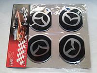 Наклейки на заглушки литых дисков (колпачки) с логотипом mazda (мазда)