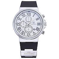 Часы Megir Silver White Black MG3007 (MN3007GBK-7)