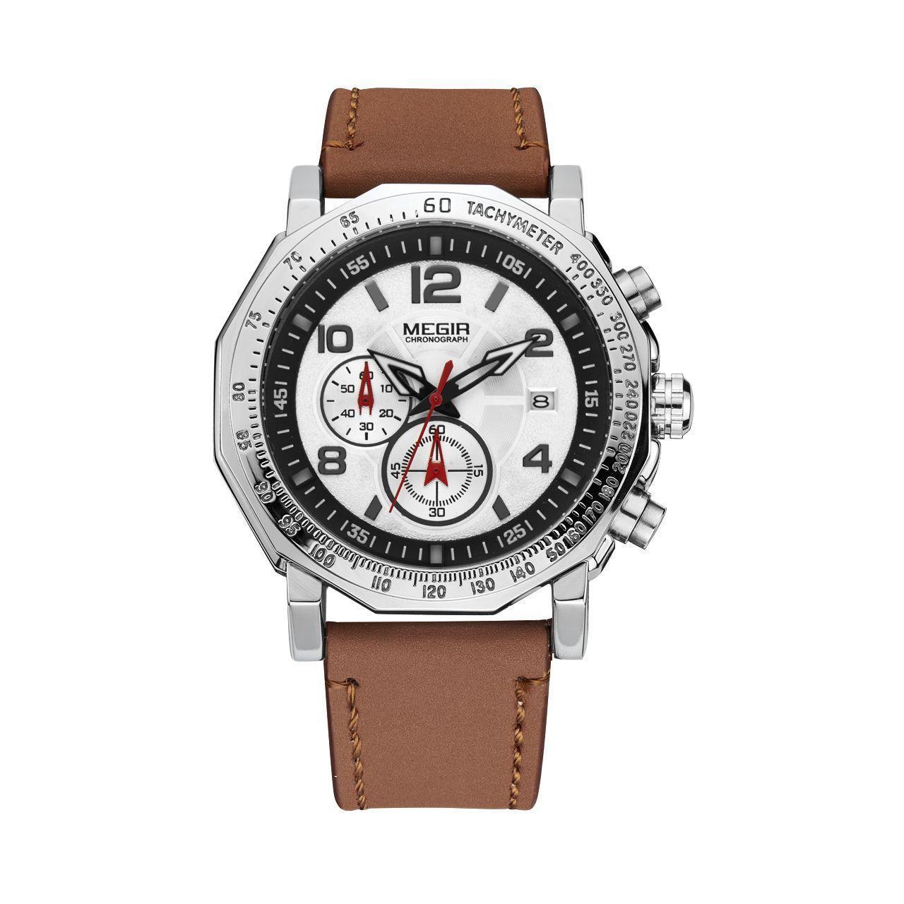 Часы Megir Silver Brown MG2048 (ML2048GBN-1N7)