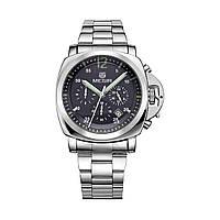 Часы Megir Silver Black Silver MG3006 SS (MS3006G-1), фото 1
