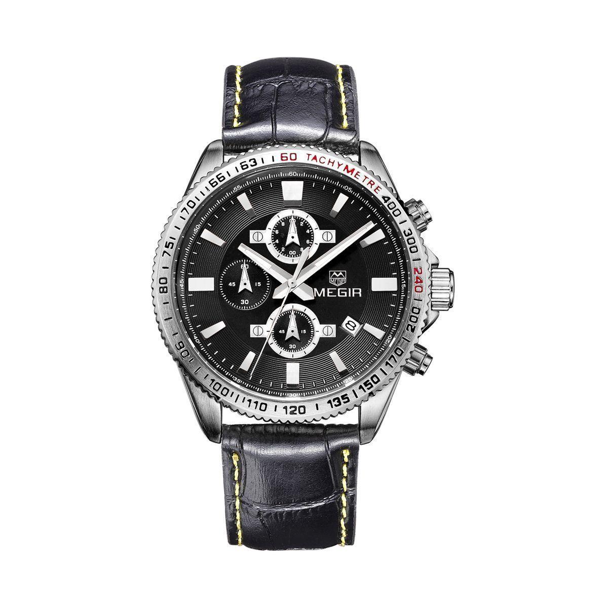 Часы Megir Silver Black MG3001 (ML3001GBK-1)