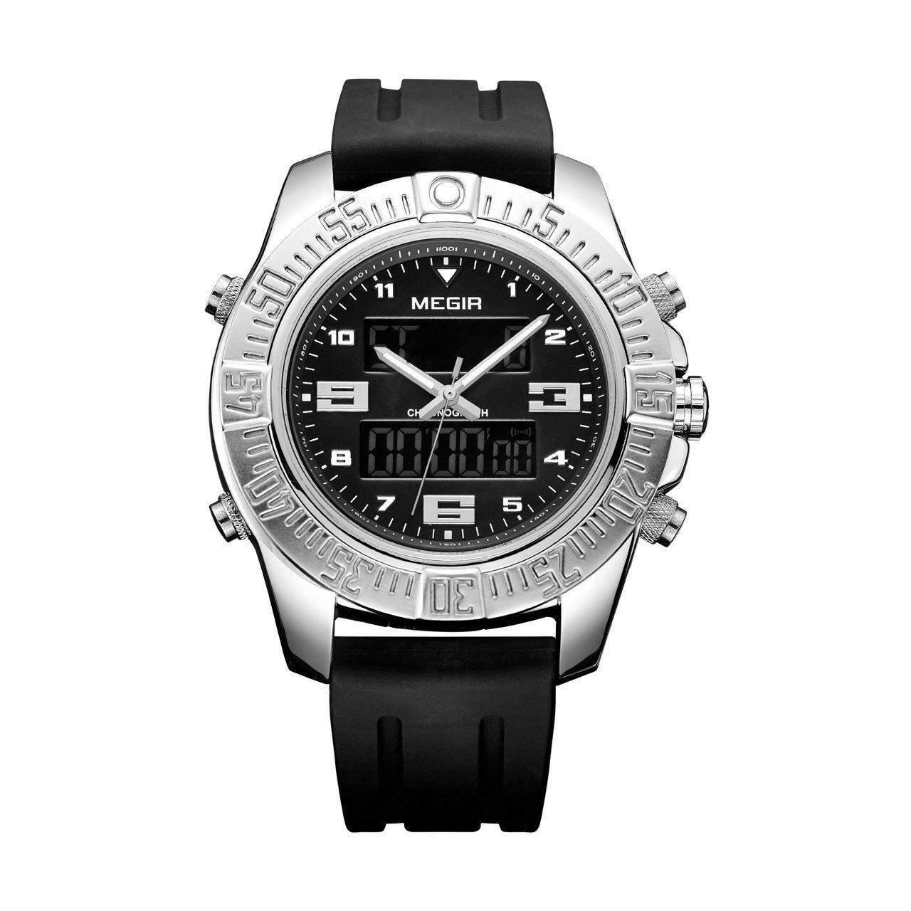 Часы Megir Silver Black MG2038 (MN2038GBK-1)