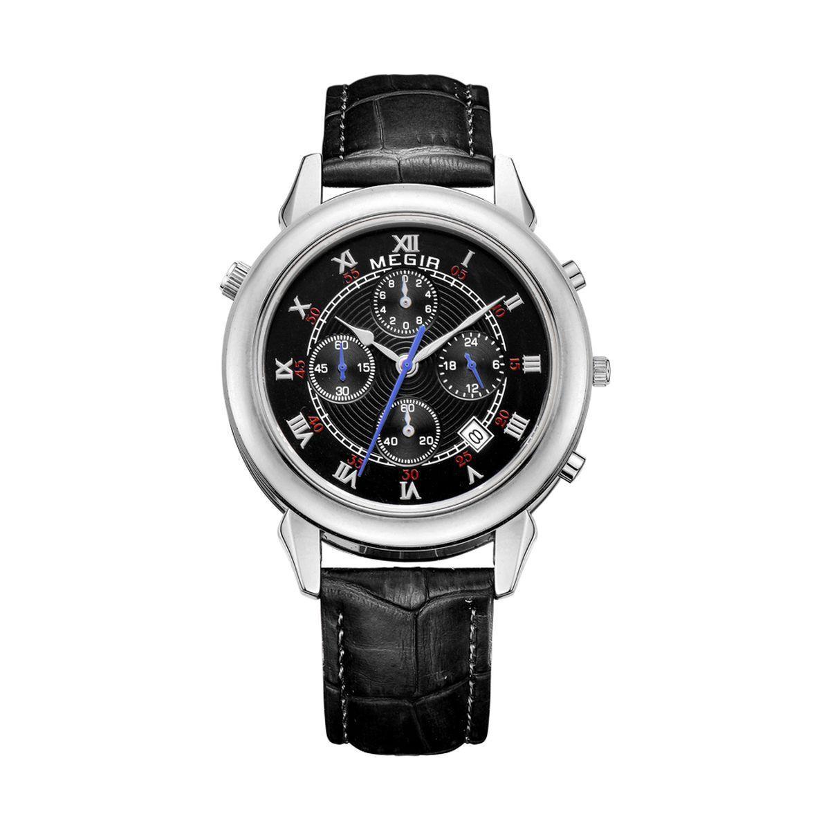 Часы Megir Silver Black MG2013 (ML2013GBK-1)