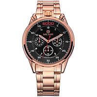Часы Megir Gold Black Gold MG3005 SS (MS3005GRE-1N0), фото 1