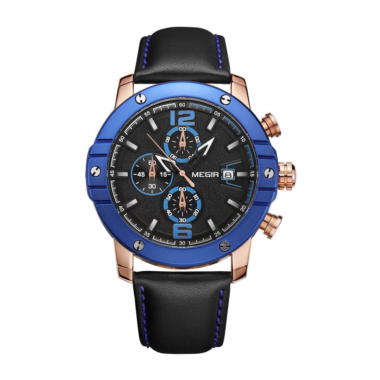 Часы Megir Blue Black MG2046 (ML2046GREBK-1N2)