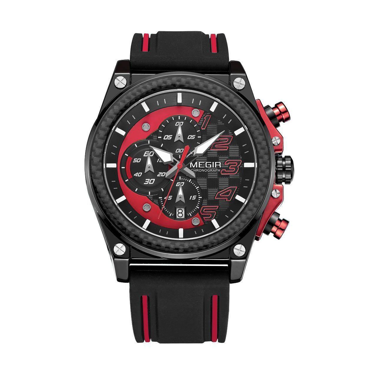 Часы Megir Black Red Black MG2051 (MN2051G-BK-1N8)